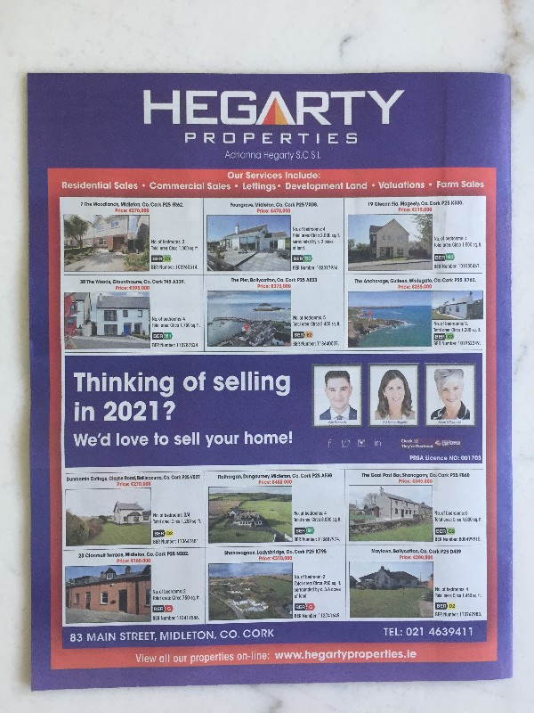 Our advert in the Irish Examiner today