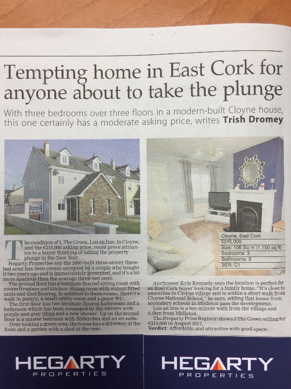 Tempting home in East Cork for anyone about to take the plunge