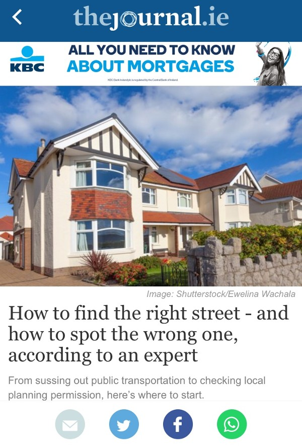 How to find the right street - and how to spot the wrong one, according to an expert