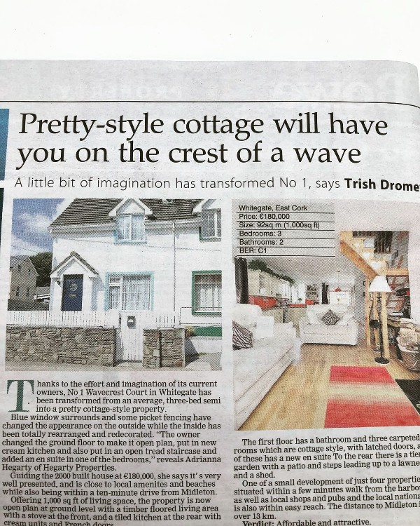 Pretty-style cottage will have you on the crest of a wave
