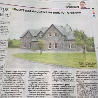 Equestrian holding on 10ac for €795,000 featured in the Irish Independent